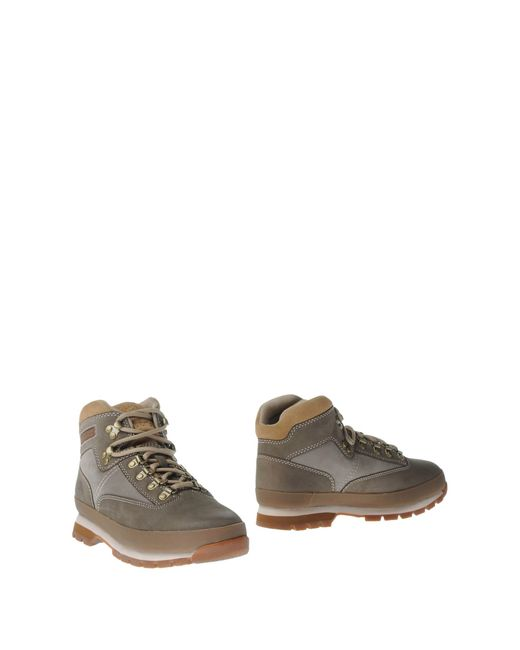 timberland ankle boots in gray for men grey lyst. Black Bedroom Furniture Sets. Home Design Ideas