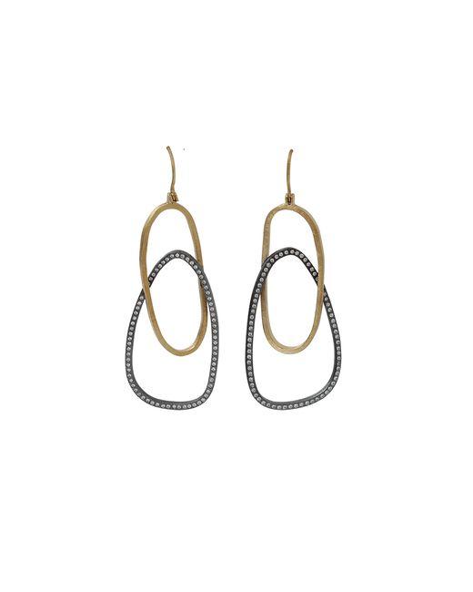 Todd Reed | Metallic Diamond Openwork Earrings | Lyst
