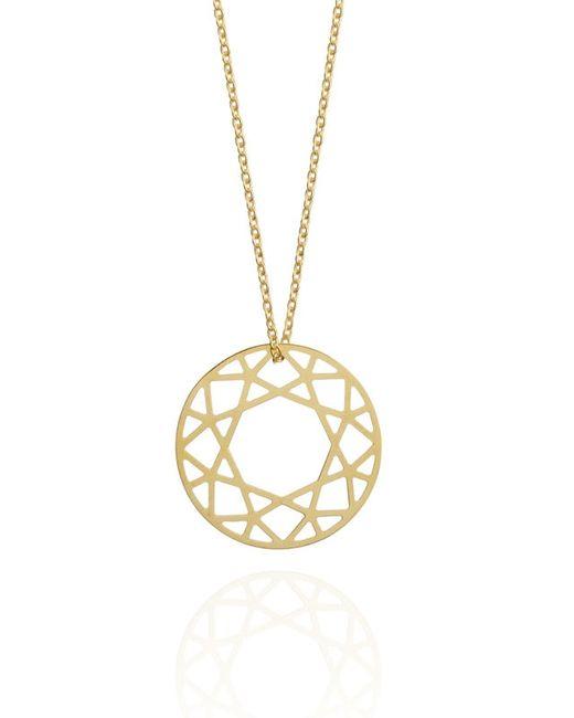 Myia Bonner | Yellow Medium Gold Brilliant Diamond Necklace | Lyst