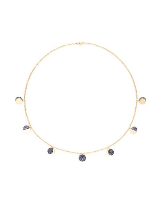 Pamela Love | Metallic 'moon Phase' Sapphire 18k Yellow Gold Necklace | Lyst