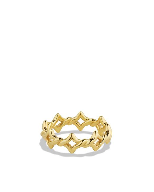 David Yurman | Metallic Venetian Quatrefoil Stacking Ring In 18k Gold | Lyst