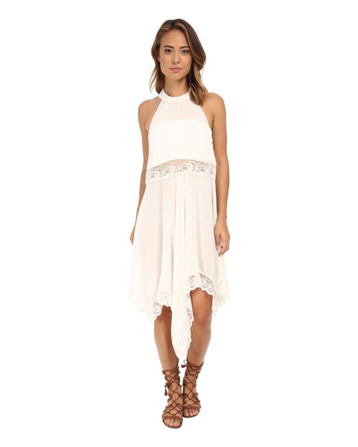 Free People | White Go Lightly Gauze & Lace Lots Of Layers Slip | Lyst