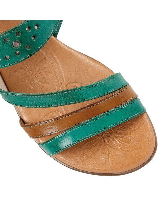 Lotus | Green Palma Open Toe Sandals | Lyst