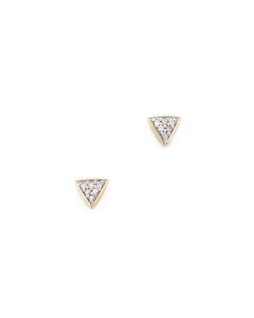 Adina Reyter | Metallic Super Tiny Pave Triangle Earrings | Lyst