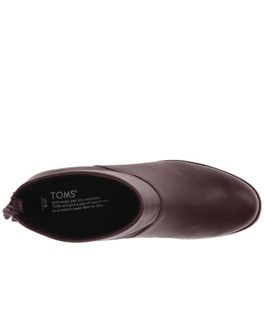 TOMS | Purple Leila Bootie | Lyst