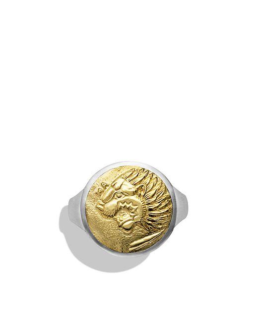 David Yurman | Metallic Petrvs Lion Signet Ring With Gold for Men | Lyst