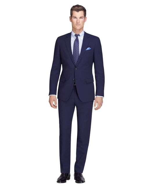 Brooks Brothers | Blue Fitzgerald Fit Navy Mini Bead Stripe Brookscool® Suit for Men | Lyst