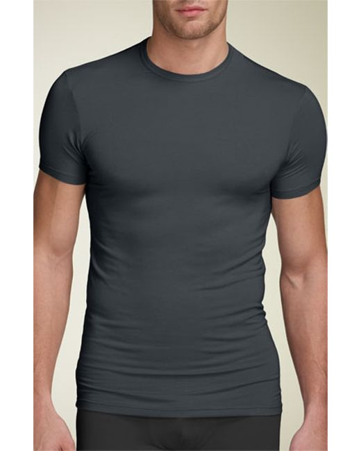Calvin klein 39 u5551 39 modal blend crewneck t shirt in gray for Modal t shirts mens