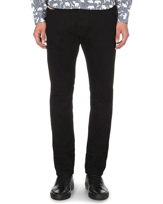 DIESEL | Gray Belther Slim-fit Tapered Jeans for Men | Lyst