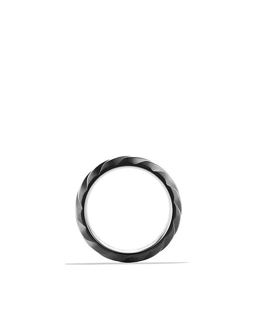 David Yurman | Modern Cable Wide Band Ring With Black Titanium for Men | Lyst