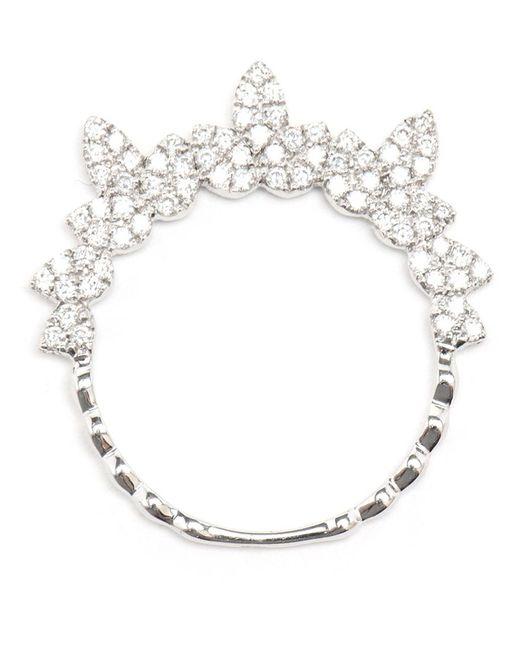 Yvonne Léon | Metallic Yvonne Léon Spiked Diamond Ring | Lyst