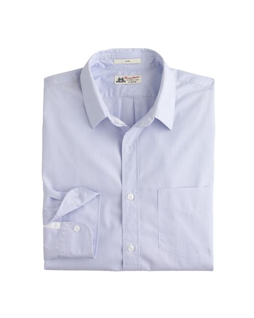 J.Crew   White Slim Thomas Mason Shirt In Peri Stripe for Men   Lyst