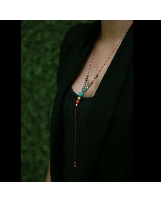 Shamballa Jewels | Red Emerald Necklace With Diamonds | Lyst