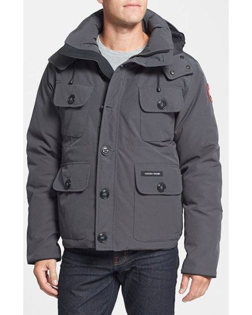 Canada Goose | Gray 'selkirk' Slim Fit Water Resistant Down Parka With Detachable Hood for Men | Lyst