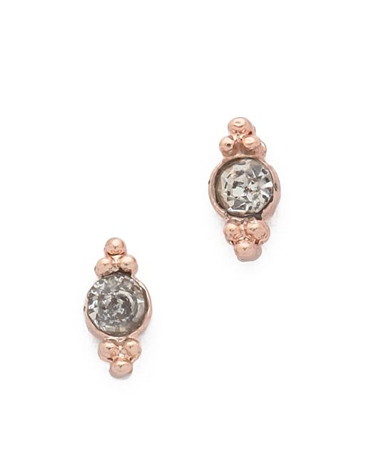 Shashi | Pink Mini Ballerina Stud Earrings | Lyst