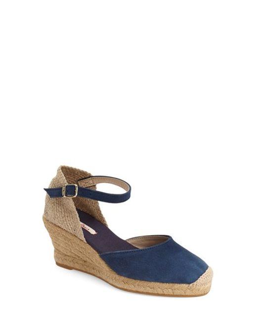toni pons lloret 5 espadrille wedge sandal in blue lyst