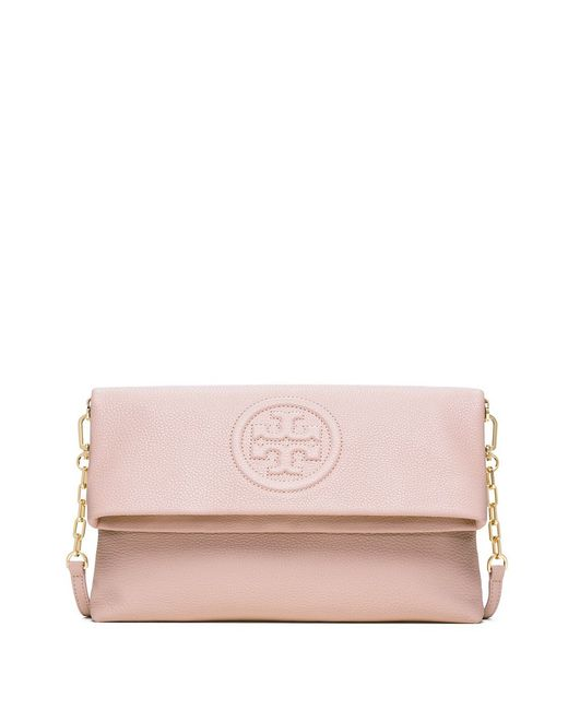Tory Burch | Pink Bombe Fold-over Clutch | Lyst