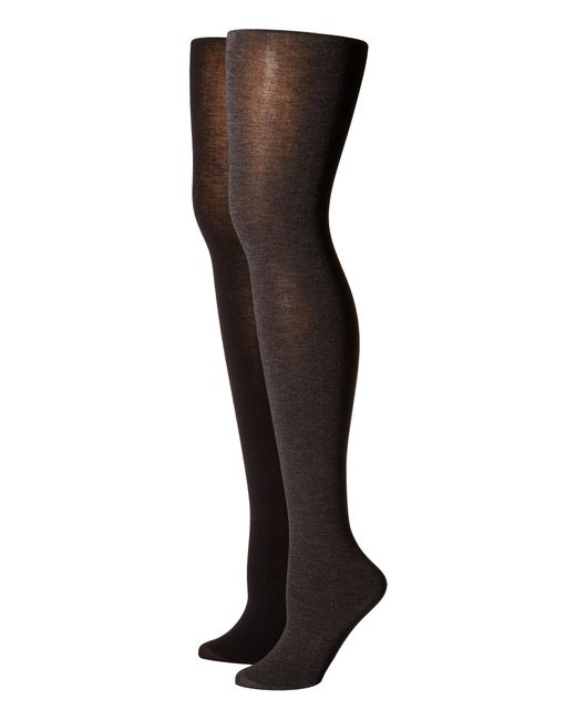 Hue | Gray Heat Temp Tights 2-pack | Lyst