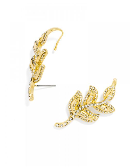 BaubleBar | Metallic Lotus Ear Crawlers | Lyst
