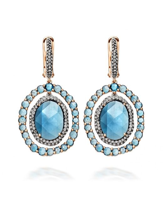 astley clarke london blue topaz fao earrings in blue lyst