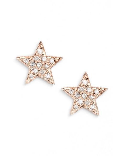 Dana Rebecca | Pink 'julianne Himiko' Diamond Star Stud Earrings | Lyst