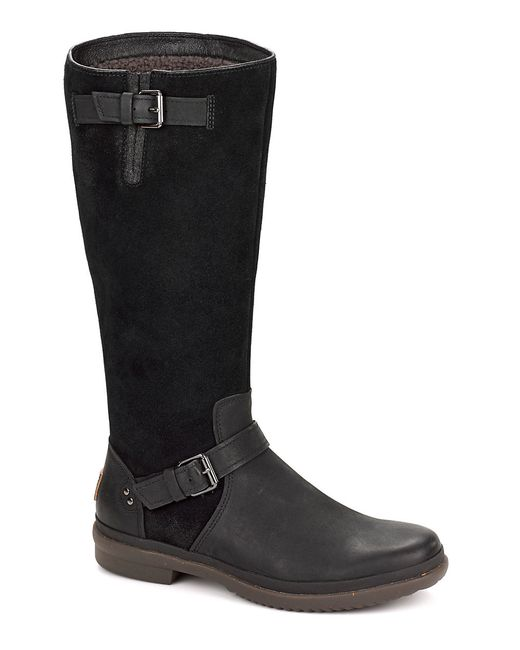 Ugg | Black Thomsen Pure Mid-calf Leather Boots | Lyst