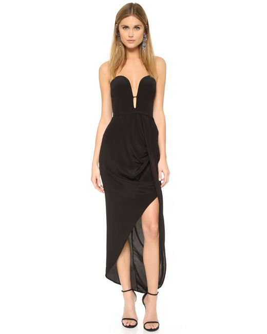 Zimmermann | Black Silk Curve Long Dress | Lyst