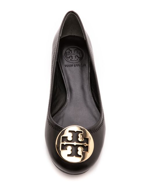 Tory Burch | Twiggie Black Patent Leather Ballerina | Lyst