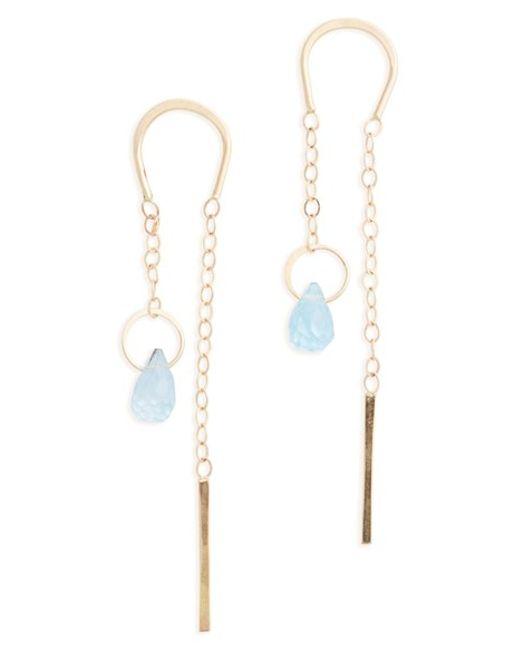 Melissa Joy Manning | Blue Semiprecious Stone Threader Earrings | Lyst