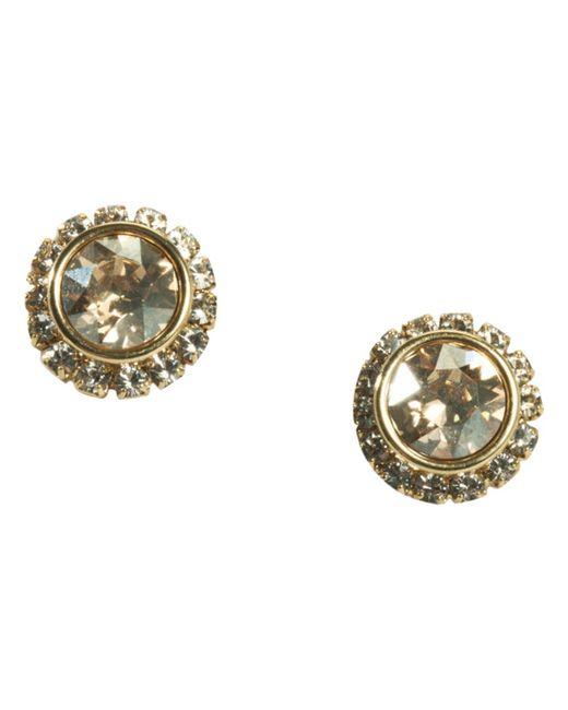 Ted Baker | Metallic Sully Swarovski Crystal Stud Earrings | Lyst