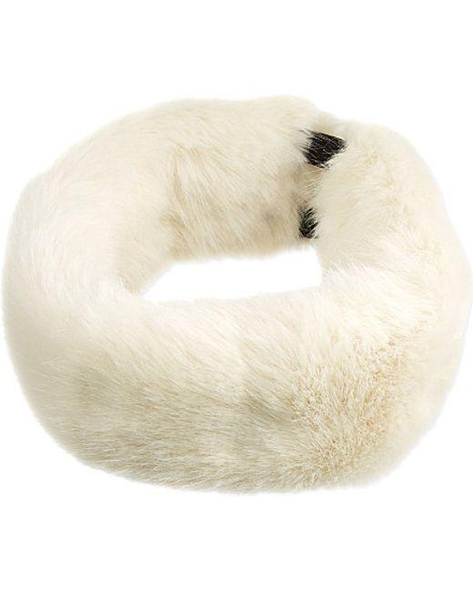 Helen Moore   White Faux-fur Headband   Lyst
