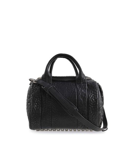 Alexander Wang | Black Rockie Rhodium Stud Duffle Bag | Lyst