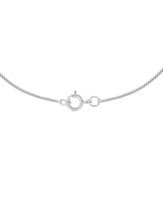 Ib&b | Metallic 9ct White Gold Diamond Set Etched Oval Locket Pendant | Lyst