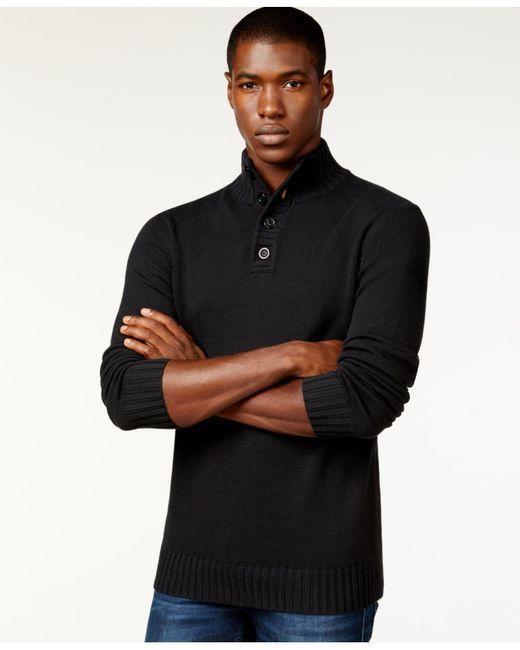 Sean John | Black Men's Button-neck Sweater, Only At Macy's for Men | Lyst