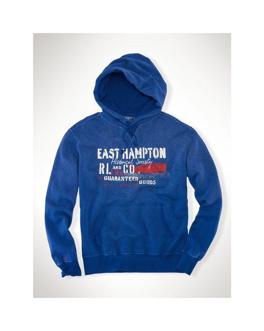 Polo Ralph Lauren | Blue East Hampton Fleece Hoodie for Men | Lyst