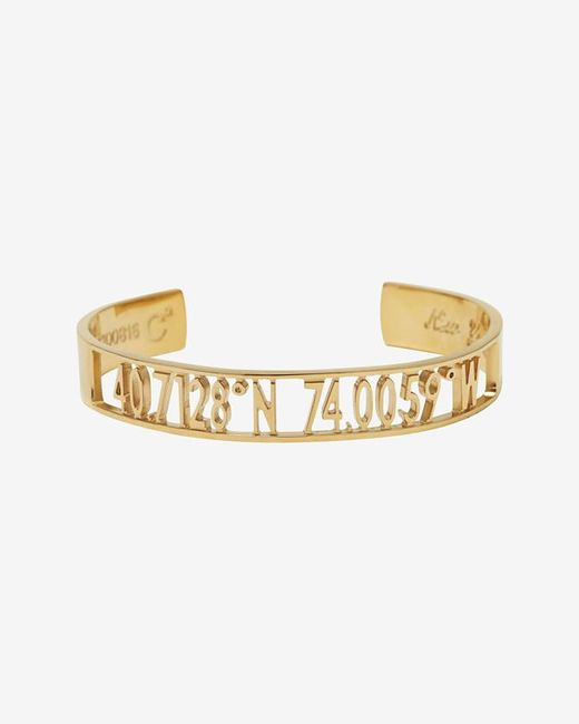 Coordinates Collection | Metallic Cut Out Open Air New York Cuff | Lyst