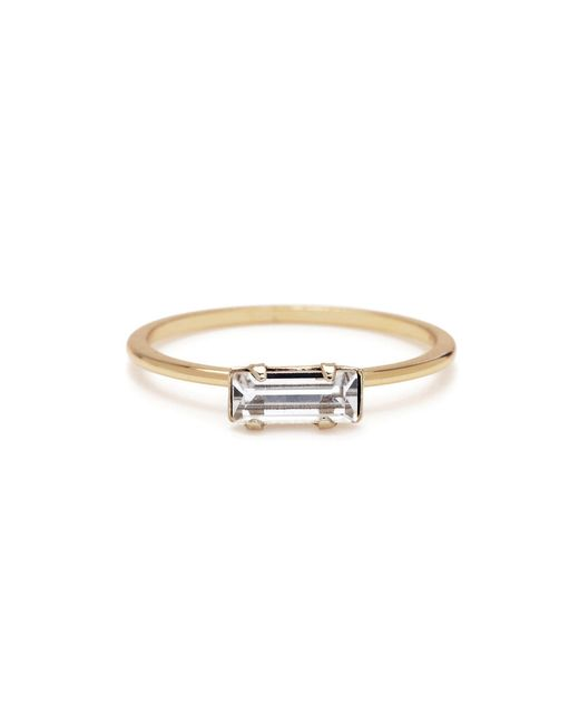 Bing Bang | Yellow Tiny Baguette Ring | Lyst
