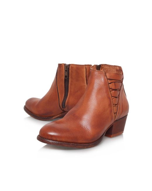 H by Hudson | Brown Ikat Low Block Heel Ankle Boots | Lyst