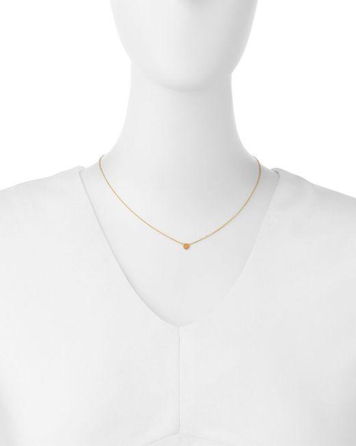 Shy By Sydney Evan   Yellow Happy Face Bezel Diamond Necklace   Lyst