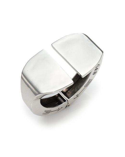 Giles & Brother | Metallic Stirrup Cuff Bracelet/Silvertone | Lyst