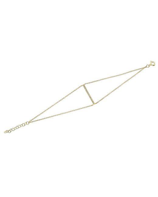 Anne Sisteron | 14kt Yellow Gold Diamond Thin Bar Double Chain Bracelet | Lyst