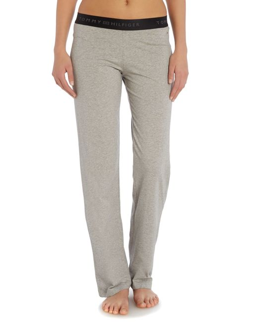 Tommy Hilfiger | Gray Cotton Pant Iconic | Lyst