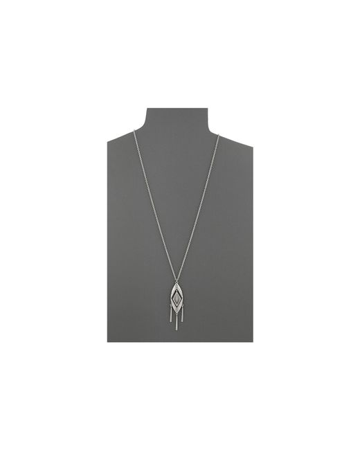 The Sak | Metallic Etched Oval Pendant Necklace | Lyst