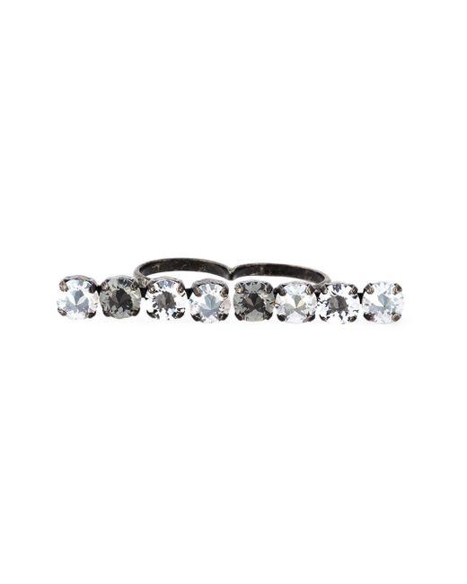 Lanvin   Metallic Double Ring   Lyst