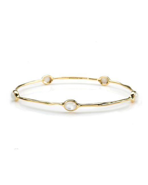 Ippolita | Metallic 18k Gold Rock Candy Lollipop 5-stone Bangle In Mother-of-pearl | Lyst