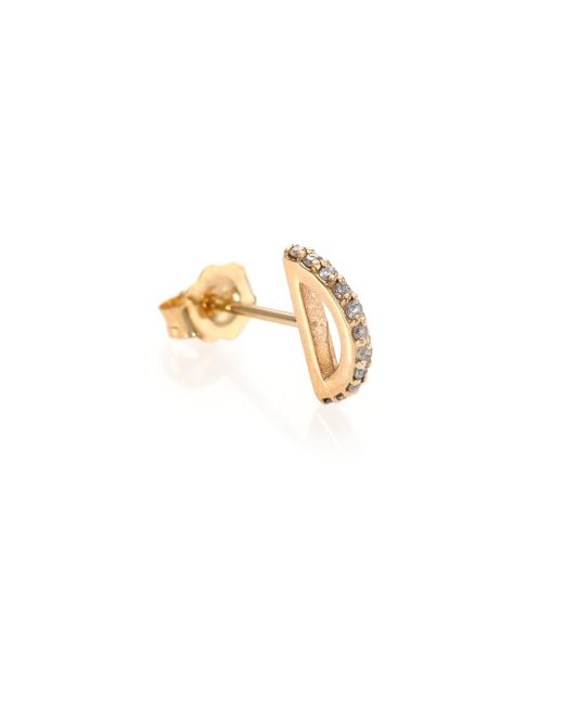 Phyne By Paige Novick | Metallic Cara Diamond & 14k Yellow Gold Single Stud Earring | Lyst