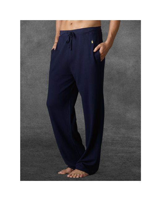 Polo Ralph Lauren | Blue Waffle-knit Pant for Men | Lyst