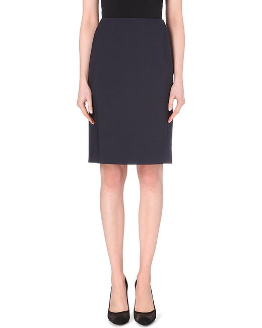 Theory | Blue Stretch-wool Pencil Skirt | Lyst