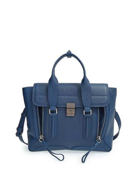 3.1 Phillip Lim | Blue 'medium Pashli' Leather Satchel | Lyst