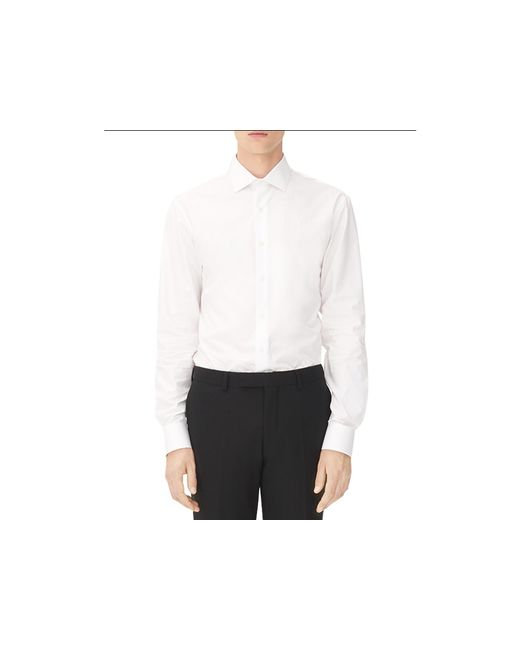 Sandro Business Slim Fit Button Down Shirt In White For